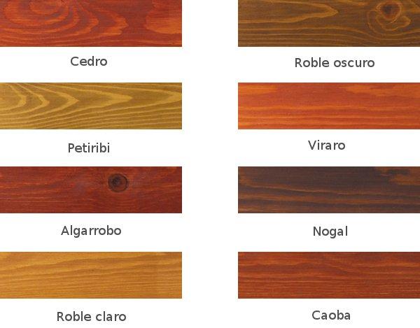 Linea maderas - Colores de madera ...